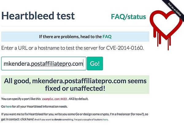 Post Affiliate Pro Heartbleed Safe Proof
