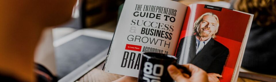 Book with guide to succes
