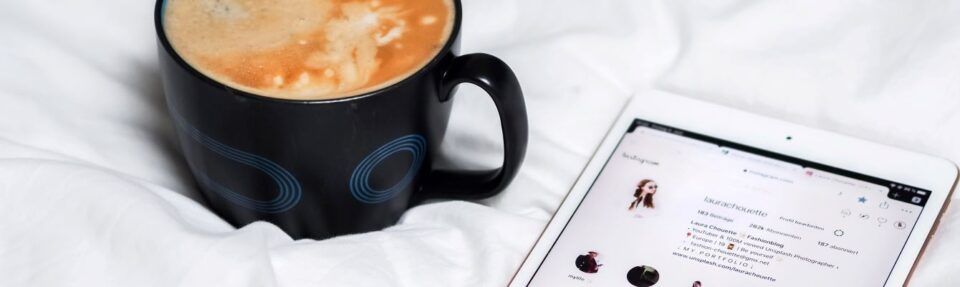 coffee latte and phone
